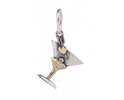 Personal Vocabulary -Martini Love -Sterling SIlver/Brass