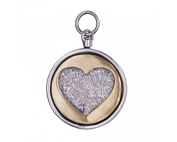 Renewable Love Signature Pendant SS/BR/SWV Crystal Fabric