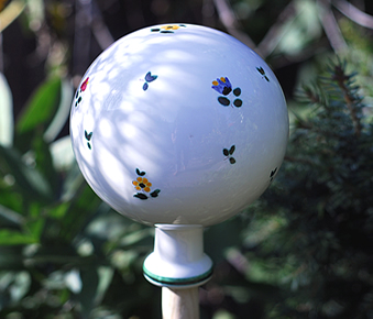 Alpine Flowers Garden Globe Large -RETIRED 2 available