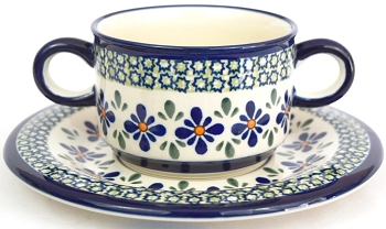 Polish Sweetie Pie Stoneware Soup Cup & Saucer | ARTISAN