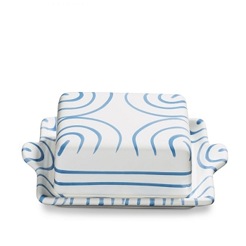 Dizzy Blue Classic Butter Dish Small