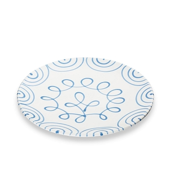 Dizzy Blue Coupe Dinner Plate 11