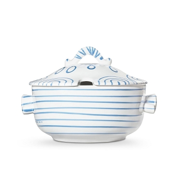 Dizzy Blue Soup Tureen