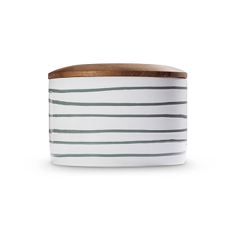 Dizzy Grey Storage Jar with Wooden Lid -1 available