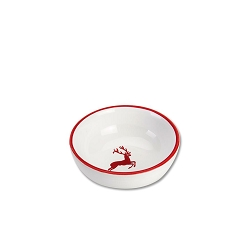 Ruby Deer Dip Bowl, Small  3.5 inch