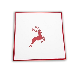 Ruby Deer, Square Side Plate , 6.7 inch
