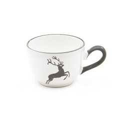 Grey Deer Coupe Coffee Cup and Saucer