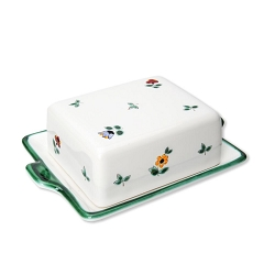 Alpine Flowers Small Butter Dish