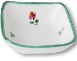 Alpine Flowers Small Square Bowl 3.5