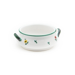 Alpine Flowers Classic Soup Bowl with Handles