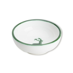 Green Deer Dip Bowl, Small  3.5 inch Retired - 8 Available