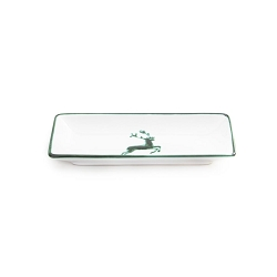 Green Deer Snack Tray 8.7 Inch Long