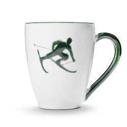 Toni the Skier Green Gourmet Mug