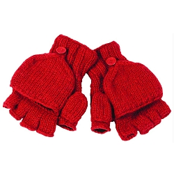 FIngerless Gloves with Button Flap and Fleece