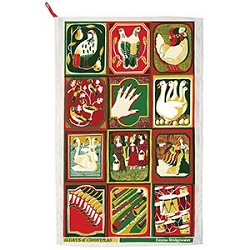 12 Days of Christmas Tea Towel, Retired