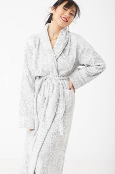 Fleur De Lys Robe- Grey Medium