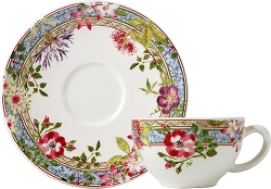 Gien Millefleurs Teacup and Saucer- 1 available, more in 6-8 weeks