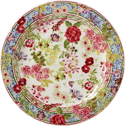 Gien Millefleurs Canape Plate set/4 Available in 2-3 weeks