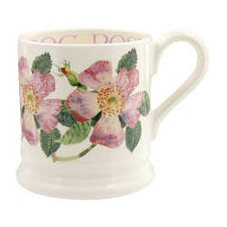 Flower Dog Rose 1/2 Pint Mug