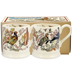Emma Bridgewater Game Birds Set of 2 1/2 Pint Mugs Boxed