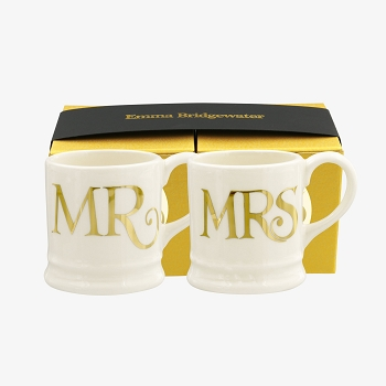 Gold Set/2 Mr and Mrs Tiny Mug