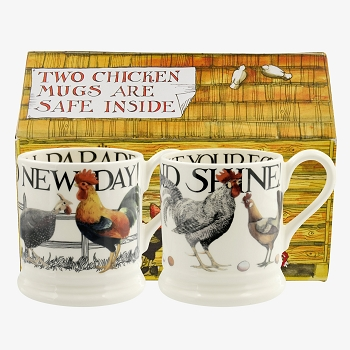 Rise & Shine set/2 Mugs Boxed