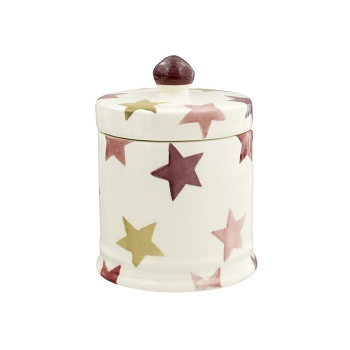 Pink & Gold Stars Small Lidded Candle Boxed