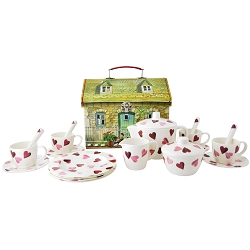 Pink Hearts Melamine Dollies Tea Set with Case