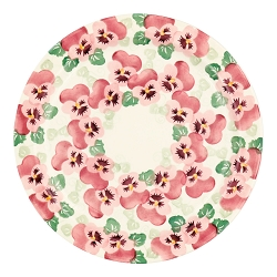 Pink Pansy Serving Plate