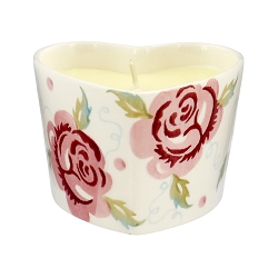 Rose and Bee Heart Candle