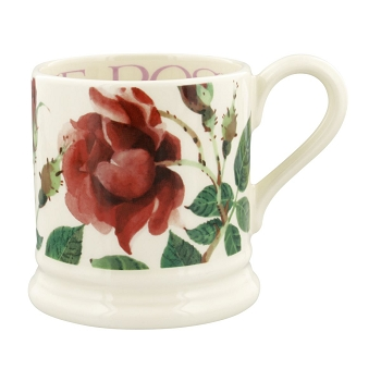 Flowers Red Rose 1/2 Pint Mug -2 available