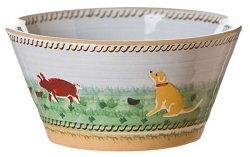 Landscape Mixed Animal Small Angled Bowl
