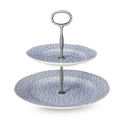Pale Blue Felicity 2 Tier Cake Stand