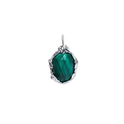 Stellare Signature Stone Malachite Pendant - Retired, Sale