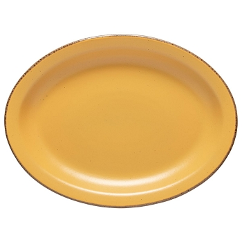 Positano Yellow Oval Platter
