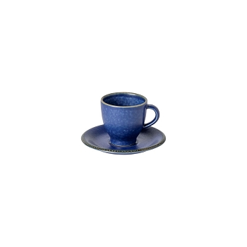 Positano Blue Coffee Cup & Saucer Set/4