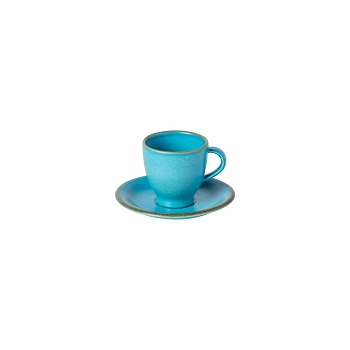 Positano Cyan Coffee Cup & Saucer Set/4