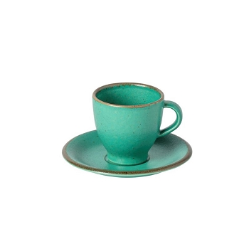 Positano Green Coffee Cup & Saucer Set/4