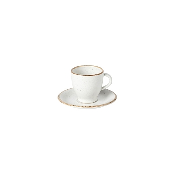 Positano White Coffee Cup & Saucer Set/4