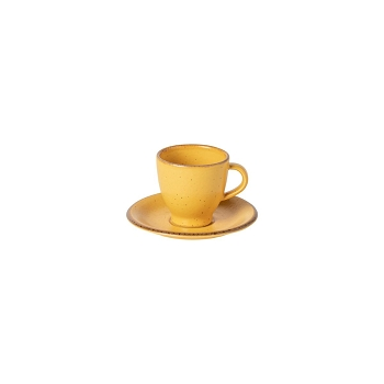 Positano Yellow Coffee Cup & Saucer Set/4