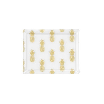 Platex Medium Rectangular  Tray, Pineapple Gold