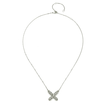 Petit Silver French Kiss Necklace