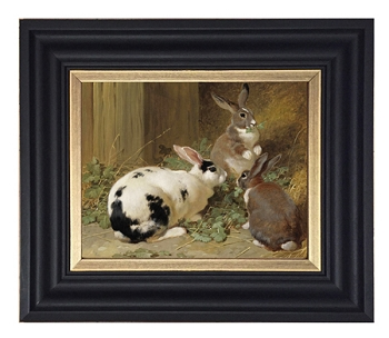Three Rabbits  Reproduction Print