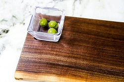 Andrew/Simon Pearce  Collaboration Board with Glass Bowl in Black Walnut