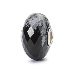 Snowflake Obsidian Facet Bead  - 3 available