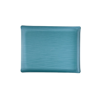 Solid Medium Rect. Tray, Blue