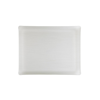Solid Medium Rect. Tray, Ivory