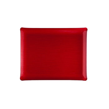 Solid Medium Rect. Tray, Red