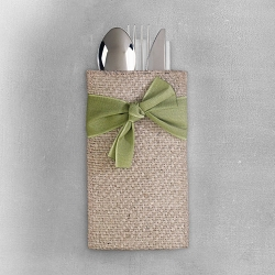 Green Ribbon set/8 Cutlery Holder