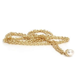 Fantasy Pearl Necklace 14K Gold 35.4